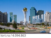 Купить «Астана. Байтерек, здание архива, Евразийский банк развития.», фото № 4094863, снято 9 августа 2012 г. (c) Валерий Тырин / Фотобанк Лори