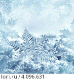 Купить «Новогодний фон с большой снежинкой», фото № 4096631, снято 17 июля 2019 г. (c) ElenArt / Фотобанк Лори