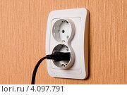 Купить «Электрическая розетка», фото № 4097791, снято 27 декабря 2011 г. (c) Владимир Хаманов / Фотобанк Лори