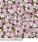 Купить «Бесшовный фон с розовыми цветами», иллюстрация № 4098827 (c) Катыкин Сергей / Фотобанк Лори