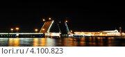 Санкт-Петербург вид на ночной мост панорама (2011 год). Редакционное фото, фотограф Энди / Фотобанк Лори
