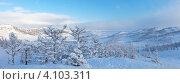 Купить «Байкал. Панорамный вид с горы на бухту Куркутскую после снегопада», фото № 4103311, снято 10 декабря 2012 г. (c) Виктория Катьянова / Фотобанк Лори