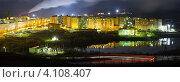 Заполярный. Панорама в ночное время. (2012 год). Редакционное фото, фотограф Егор Богданов / Фотобанк Лори