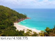 Побережье пляжа Anse Georgette, остров Праслин, Сейшельские острова (2011 год). Стоковое фото, фотограф Dmitry Burlakov / Фотобанк Лори