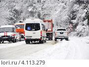 Купить «В снежном заторе все равны», фото № 4113279, снято 6 марта 2012 г. (c) Анна Мартынова / Фотобанк Лори