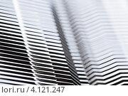 Купить «Металлический полосатый фон с размытием», фото № 4121247, снято 16 декабря 2012 г. (c) Архипова Мария / Фотобанк Лори
