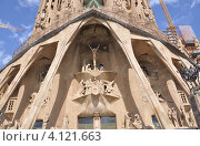 Купить «Барселона, Храм Святого Семейства», фото № 4121663, снято 6 июня 2020 г. (c) Светлана Пирожук / Фотобанк Лори