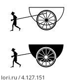 Рикша. Стоковая иллюстрация, иллюстратор Tatyana Krasikova / Фотобанк Лори