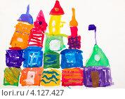 Купить «Детский рисунок - замок», фото № 4127427, снято 25 октября 2012 г. (c) Катерина Макарова / Фотобанк Лори