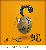 Купить «2013 - год змеи по китайскому гороскопу», иллюстрация № 4128363 (c) Olivas / Фотобанк Лори
