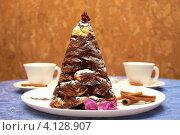 Купить «Торт Крокембуш. Шоколадная елочка.», фото № 4128907, снято 16 декабря 2012 г. (c) Константин Безденежных / Фотобанк Лори