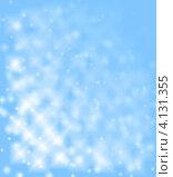 Голубой фон огоньками и снежинками. Стоковая иллюстрация, иллюстратор Людмила Герасимова / Фотобанк Лори