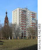 Купить «Колокольня-часовня бывшего Казанского Головинского монастыря, Головинский район, Москва», эксклюзивное фото № 4142683, снято 2 апреля 2010 г. (c) lana1501 / Фотобанк Лори