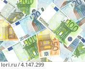 Купить «Фон из европейской валюты евро», фото № 4147299, снято 27 мая 2020 г. (c) Наталья Осипова / Фотобанк Лори