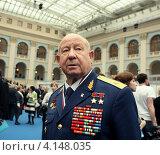 Купить «Герой Советского Союза, космонавт Алексей Леонов», фото № 4148035, снято 15 апреля 2008 г. (c) Александр С. Курбатов / Фотобанк Лори