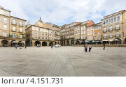 Купить «Главная площадь в городе Оренсе в Испании», эксклюзивное фото № 4151731, снято 26 сентября 2012 г. (c) Владимир Чинин / Фотобанк Лори