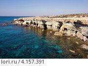Купить «Морские пещеры возле мыса Капо-Греко, Кипр», фото № 4157391, снято 16 октября 2012 г. (c) Дмитрий Черевко / Фотобанк Лори