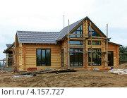 Строительство деревянного дома. Стоковое фото, фотограф Алексей Макшаков / Фотобанк Лори