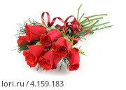 Букет из красных роз. Стоковое фото, фотограф Ирина Свириденко / Фотобанк Лори
