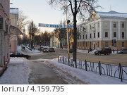 Купить «Проспект  Мира в городе Саров перед новым годом», фото № 4159795, снято 19 июня 2019 г. (c) Александр Федоренко / Фотобанк Лори