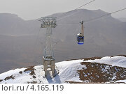 Тенерифе, подъёмник на Тейде (2008 год). Редакционное фото, фотограф Дмитрий Перельман / Фотобанк Лори
