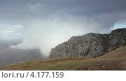 Купить «Движение облаков на горе Демерджи. Алушта, Крым, Украина, таймлапс», видеоролик № 4177159, снято 6 ноября 2012 г. (c) Артем Поваров / Фотобанк Лори