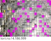 Абстрактный фон с серыми и сиреневыми квадратами. Стоковая иллюстрация, иллюстратор Константин Скуридин / Фотобанк Лори