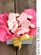 Купить «Пасхальные кролики - печенье в коробке», фото № 4191843, снято 28 декабря 2012 г. (c) Николай Охитин / Фотобанк Лори