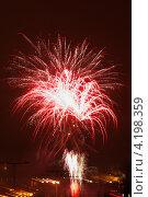 Новогодний салют в Праге. Стоковое фото, фотограф Роберт Ивайсюк / Фотобанк Лори