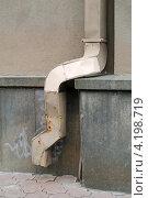 Купить «Старая водосточная труба», эксклюзивное фото № 4198719, снято 24 августа 2012 г. (c) Wanda / Фотобанк Лори