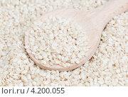 Семена льна. Стоковое фото, фотограф Сергей Гнилосыр / Фотобанк Лори