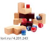 Кости и кубики. Стоковое фото, фотограф Евгений Заржицкий / Фотобанк Лори