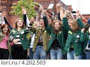 Студенты из строительных отрядов (2007 год). Редакционное фото, фотограф Роман Львов / Фотобанк Лори