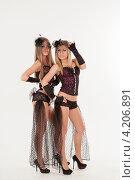 Купить «Две девушки в эротических нарядах», фото № 4206891, снято 12 января 2013 г. (c) Литвяк Игорь / Фотобанк Лори