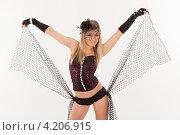 Купить «Девушка в эротическом наряде», фото № 4206915, снято 12 января 2013 г. (c) Литвяк Игорь / Фотобанк Лори