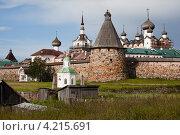 Купить «Спасо-Преображенский Соловецкий монастырь со стороны бухты Благополучия», фото № 4215691, снято 16 июля 2012 г. (c) Igor Lijashkov / Фотобанк Лори