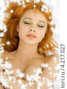 Купить «Портрет очаровательной молодой женщины на белом фоне», фото № 4217027, снято 22 мая 2006 г. (c) Syda Productions / Фотобанк Лори