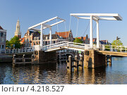 Разводной мост. Харлем. Голландия (2011 год). Стоковое фото, фотограф Андрей Дыкун / Фотобанк Лори
