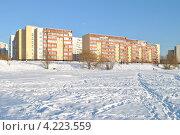 Купить «Суздальская улица, 8, район Новокосино, Москва», эксклюзивное фото № 4223559, снято 22 января 2013 г. (c) lana1501 / Фотобанк Лори
