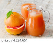 Купить «Грейпфрутовый сок», фото № 4224651, снято 22 января 2013 г. (c) Tatjana Baibakova / Фотобанк Лори