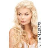 Купить «Роскошная молодая блондинка на белом фоне», фото № 4225775, снято 13 ноября 2010 г. (c) Syda Productions / Фотобанк Лори