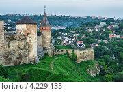 Купить «Средневековая башня, Каменец-Подольский», фото № 4229135, снято 11 мая 2012 г. (c) Петр Малышев / Фотобанк Лори