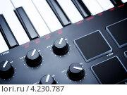Купить «Фрагмент синтезатора», фото № 4230787, снято 7 июля 2012 г. (c) Петр Малышев / Фотобанк Лори