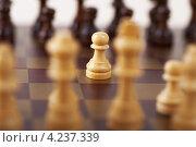 Купить «Пешка на шахматной доске», фото № 4237339, снято 2 ноября 2011 г. (c) BestPhotoStudio / Фотобанк Лори