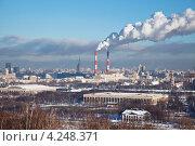 Купить «Панорама зимней Москвы», фото № 4248371, снято 22 января 2013 г. (c) Наталья Волкова / Фотобанк Лори