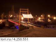 Купить «Город Тамбов. Пешеходный мост через реку Цна.», фото № 4250551, снято 1 февраля 2013 г. (c) Карелин Д.А. / Фотобанк Лори
