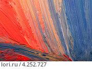 Разноцветные мазки масляной краской. Стоковое фото, фотограф Валерия Зарубицкая / Фотобанк Лори
