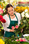 Девушка-флорист за работой, фото № 4266307, снято 14 января 2013 г. (c) CandyBox Images / Фотобанк Лори