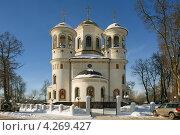 Купить «Храм Вознесения Господня», фото № 4269427, снято 27 января 2013 г. (c) Денис Ларкин / Фотобанк Лори