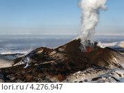 Купить «Извержение вулкана Плоский Толбачик (Тулуач). Камчатка», фото № 4276947, снято 2 февраля 2013 г. (c) А. А. Пирагис / Фотобанк Лори